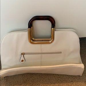 white clutch/purse